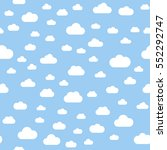 seamless pattern. clouds. white ... | Shutterstock .eps vector #552292747
