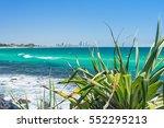 burleigh heads looking towards... | Shutterstock . vector #552295213