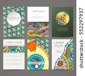 set of vector design templates. ... | Shutterstock .eps vector #552297937
