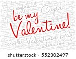 valentine's day word cloud... | Shutterstock .eps vector #552302497