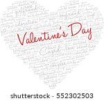 valentine's day word cloud... | Shutterstock .eps vector #552302503