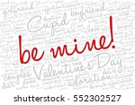 valentine's day word cloud... | Shutterstock .eps vector #552302527