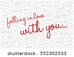 valentine's day word cloud... | Shutterstock .eps vector #552302533