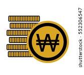 money six coins south korean... | Shutterstock .eps vector #552306547