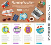 planning vacation and tourism... | Shutterstock .eps vector #552307177
