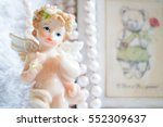 figurine angel on valentine's... | Shutterstock . vector #552309637