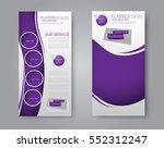 skinny flyer or leaflet design. ... | Shutterstock .eps vector #552312247