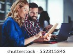 programmers cooperating at  it... | Shutterstock . vector #552315343