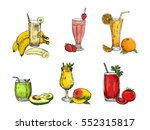 graphic collection of different ... | Shutterstock .eps vector #552315817