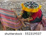 Peruvian Woman   Weaver In...