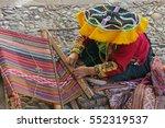 Peruvian Woman   Weaver In...