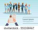 curriculum vitae recruitment... | Shutterstock .eps vector #552338467