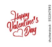 hand drawn valentine's day... | Shutterstock .eps vector #552347893
