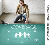 insurance coverage mix... | Shutterstock . vector #552349693