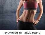 sport  fit woman. female with... | Shutterstock . vector #552350047