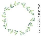 vector wreath of berries. | Shutterstock .eps vector #552352063