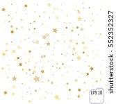 gold star falling print. yellow ... | Shutterstock .eps vector #552352327