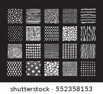 hand drawn textures and brushes.... | Shutterstock .eps vector #552358153