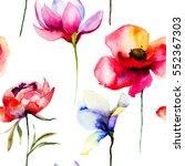 Stylized Flowers Illustration ...