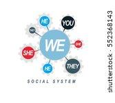 social relations conceptual... | Shutterstock .eps vector #552368143