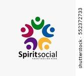 the best social logo icon full... | Shutterstock .eps vector #552372733