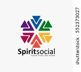 the best social logo icon full... | Shutterstock .eps vector #552373027
