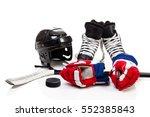 Ice Hockey Equipment Featuring...