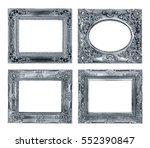antique frame isolated on white ... | Shutterstock . vector #552390847