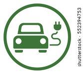 electric car automobile eco... | Shutterstock .eps vector #552394753