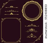 set of vintage elements. frames ... | Shutterstock .eps vector #552408853
