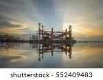 floating crane docking in port... | Shutterstock . vector #552409483