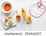 cooking vegetable puree for... | Shutterstock . vector #552416257