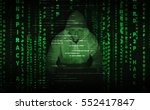 hacker at work with graphic... | Shutterstock . vector #552417847