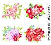 flower set | Shutterstock .eps vector #552439597