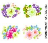 flower set | Shutterstock .eps vector #552439603