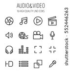 set of multimedia icons in... | Shutterstock .eps vector #552446263