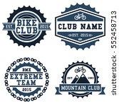 mountain bike and bmx club... | Shutterstock .eps vector #552458713