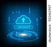 abstract upload cloud circle...