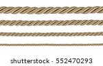 rope isolated on white... | Shutterstock . vector #552470293