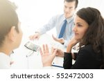 business people consulting and... | Shutterstock . vector #552472003