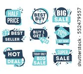 big sale and hot deal badge... | Shutterstock .eps vector #552479557