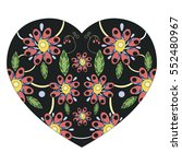 beautiful colorful heart for... | Shutterstock .eps vector #552480967