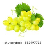 grapes isolated on the white... | Shutterstock . vector #552497713