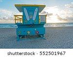 miami beach life guard stand... | Shutterstock . vector #552501967