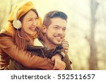 young and attractive couple... | Shutterstock . vector #552511657