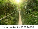 canopy bridge in taman negara ... | Shutterstock . vector #552516757