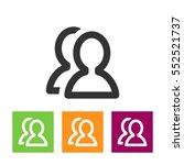 vector social network button.... | Shutterstock .eps vector #552521737
