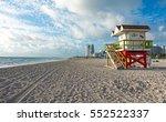 miami beach scenic view iconic... | Shutterstock . vector #552522337