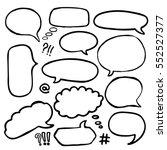 Set Of Hand Drawn Comics Style...