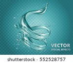 dynamic aqua elements  special... | Shutterstock .eps vector #552528757